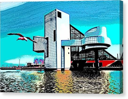 Rock And Roll Hall Of Fame - Cleveland Ohio - 4 Canvas Print