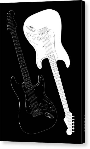Rock Music Canvas Print - Rock And Roll Yin Yang by Mike McGlothlen