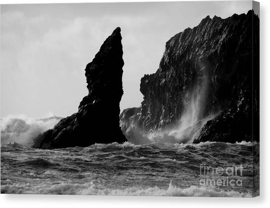 Rock And Wave Canvas Print