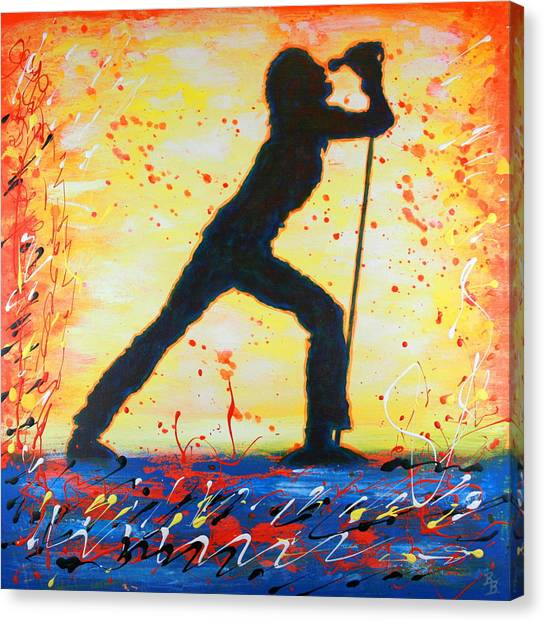 Rock Band Singer Abstract Art Canvas Print