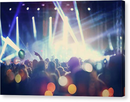 Rock Concert Canvas Print by Gilaxia