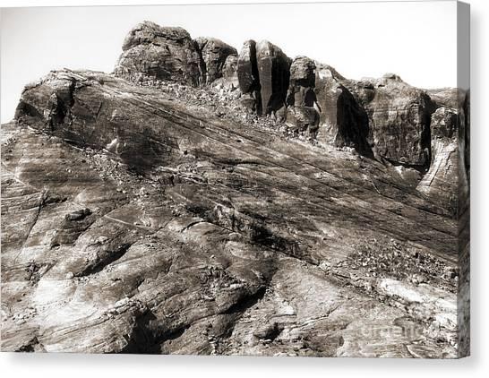 Rock Details Canvas Print by John Rizzuto