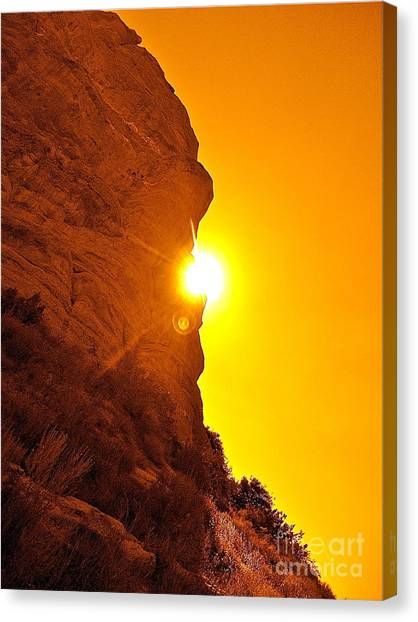 Rock Eclipse  Canvas Print