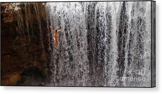 Rock Falls Canvas Print