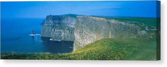 The Cliffs Of Moher Canvas Print - Rock Formations At The Coast, Cliffs Of by Panoramic Images