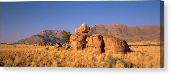 Namib Desert Canvas Print - Rock Formations In A Desert, Brandberg by Panoramic Images