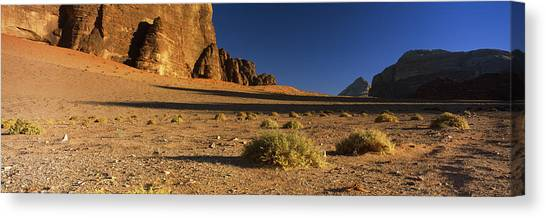 Jordan Canvas Print - Rock Formations In A Desert, Wadi Um by Panoramic Images