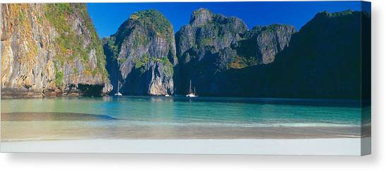 Phi Phi Island Canvas Print - Rock Formations In The Sea, Phi Phi by Panoramic Images