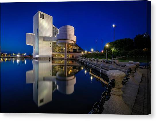 Rock Hall At Blue Hour Canvas Print