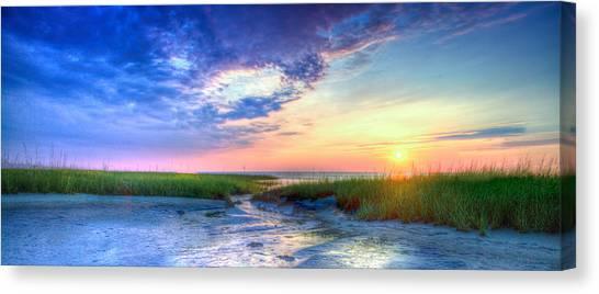 Rock Harbor Sunset Canvas Print