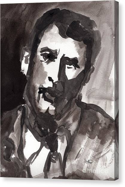 Rock Hudson Watercolor Sketch Canvas Print by Ginette Callaway