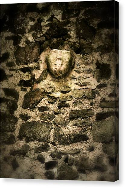 The Face In The Wall - Rock Of Cashel Canvas Print