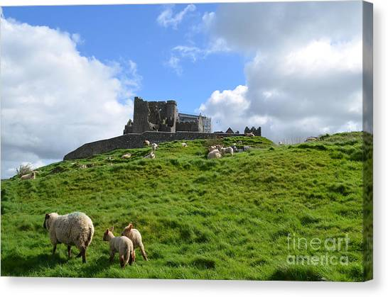 Rock Of Cashel In The Distance Canvas Print