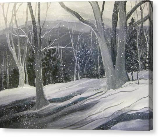 Rock Ridge Snowscene Canvas Print