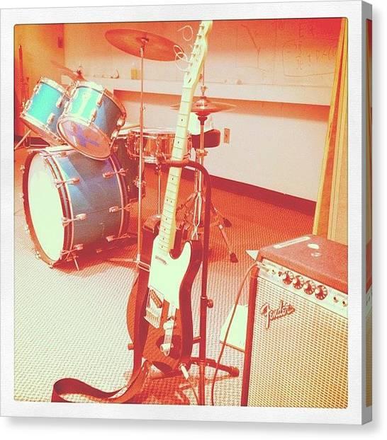 Fender Guitars Canvas Print - Rock Show by Michael Gonzalez