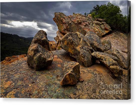 Rock/storm Canvas Print