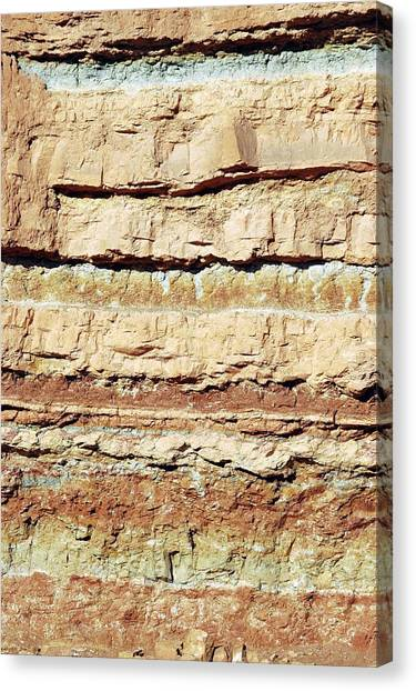 Negev Desert Canvas Print - Rock Strata by Photostock-israel/science Photo Library