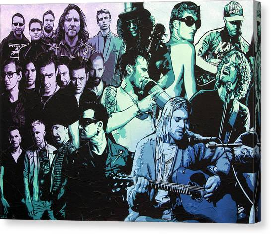 Stone Temple Pilots Canvas Print - Rock Triptych - Panel A by Bobby Zeik
