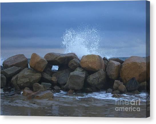 Rock Window Canvas Print