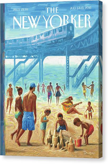 Rockaway Beach Canvas Print