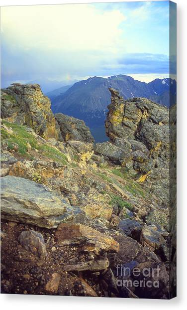 Rockcut In Rocky Mtn National Park Canvas Print