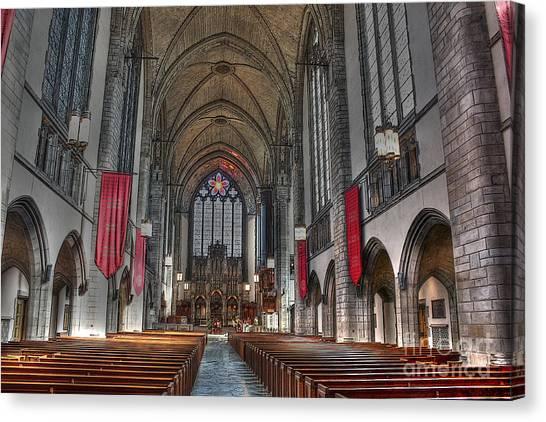Uaa Canvas Print - Rockefeller Chapel At The U Of C by David Bearden
