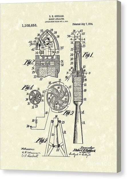 Rocket 1914 Patent Art Canvas Print