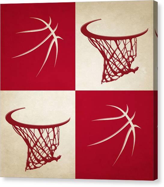 Houston Rockets Canvas Print - Rockets Ball And Hoop by Joe Hamilton