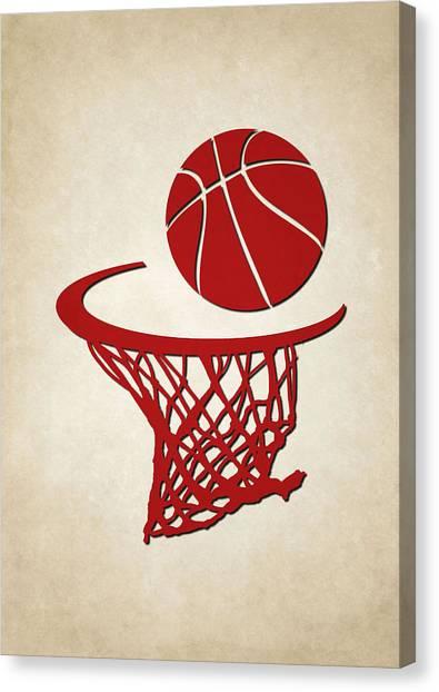 Houston Rockets Canvas Print - Rockets Team Hoop2 by Joe Hamilton