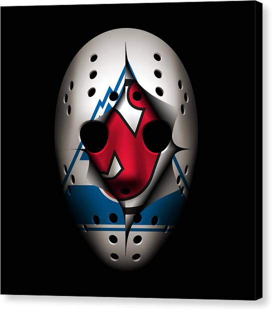 New Jersey Devils Canvas Print - Rockies Become The Devils by Joe Hamilton