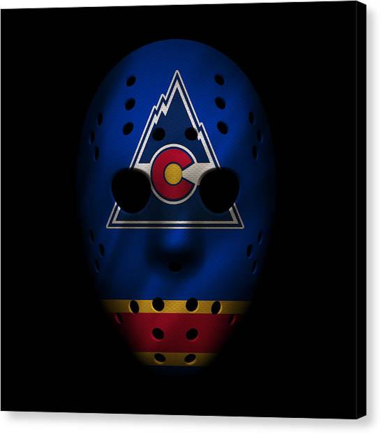 Colorado Rockies Canvas Print - Rockies Jersey Mask by Joe Hamilton
