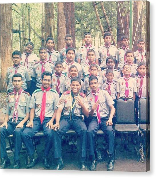 Scouting Canvas Print - #rocking #groupphoto #scouting by Isuru Deminda Thilakarathna