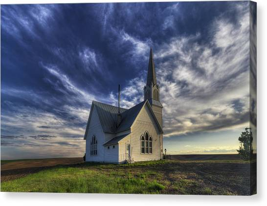 House Of Worship Canvas Print - Rocklyn Zion German Methodist Church by Mark Kiver