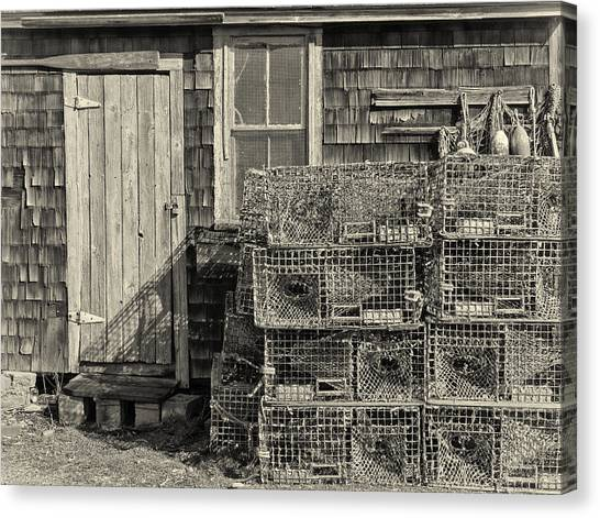Rockport Fishing Shack Canvas Print
