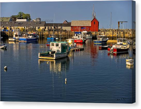 Rockport Harbor No.1 Canvas Print