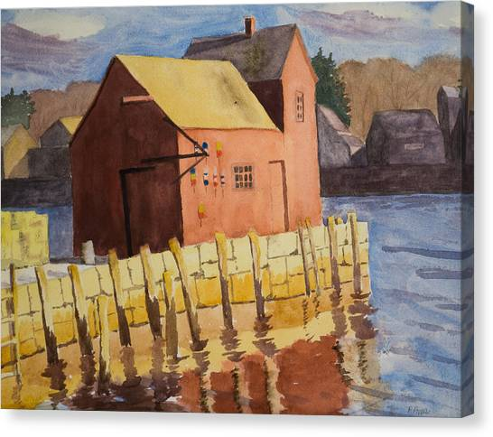 Rockport Motif Number One Canvas Print by Peggy Poppe