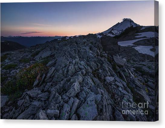 Rocks And Glow Canvas Print