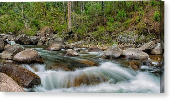 Rocks And Rapids Canvas Print by Mark Lucey
