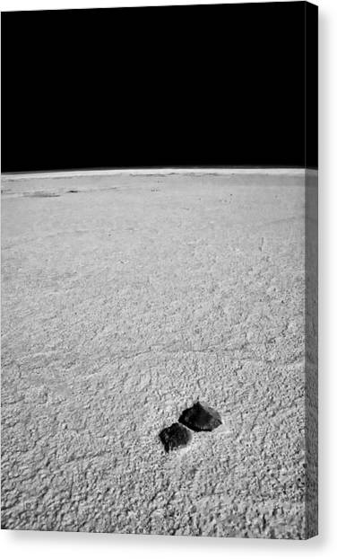Rocks And Salt Canvas Print by Guillermo Hakim