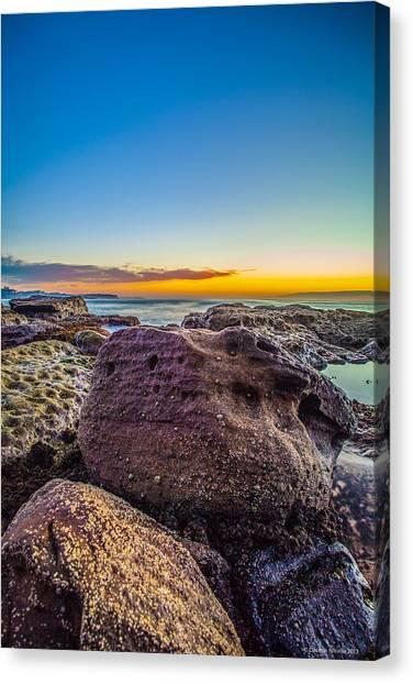 Rocks By The Sea 2 Canvas Print by Dasmin Niriella