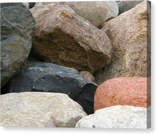 Rocks In Various Colors Canvas Print