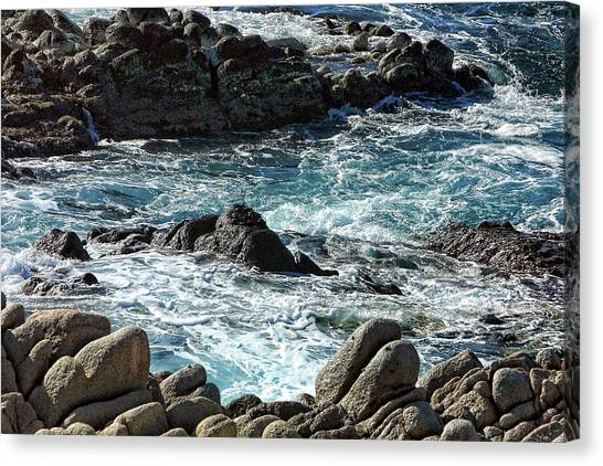 Rocks Off Shore Cabo San Lucas Canvas Print by Linda Phelps