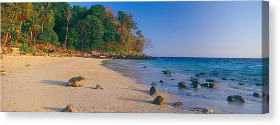 Phi Phi Island Canvas Print - Rocks On The Beach, Phi Phi Islands by Panoramic Images