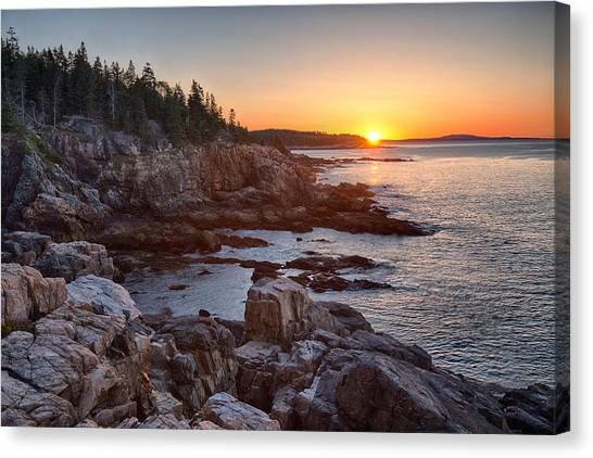 Ocean Cliffs Canvas Print - Rocks On The Coast At Sunrise, Little by Panoramic Images