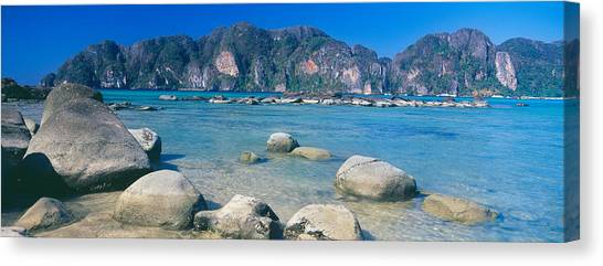 Phi Phi Island Canvas Print - Rocks On The Coast, Phi Phi Islands by Panoramic Images