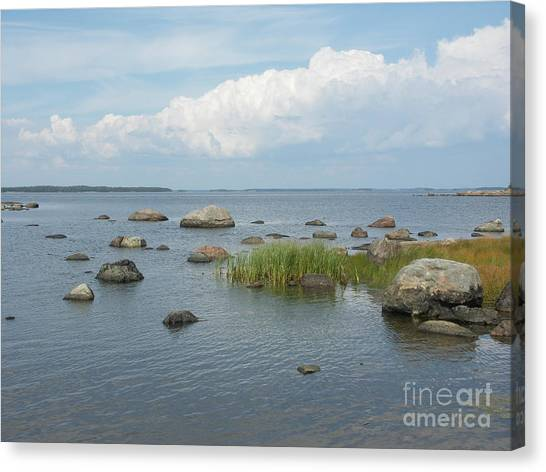 Rocks On The Baltic Sea Canvas Print