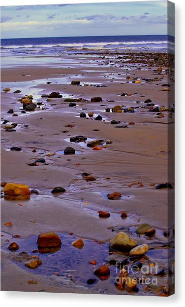Rocks On The Seashore Canvas Print