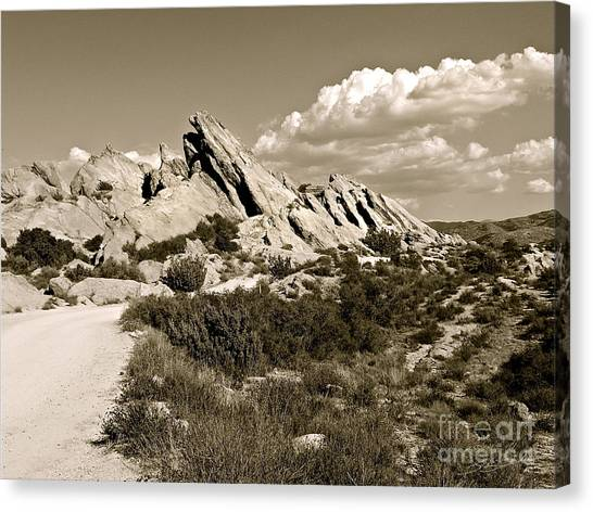 Rocks On Warm Wind Canvas Print