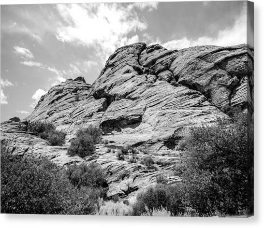 Rockscape In Greys Canvas Print