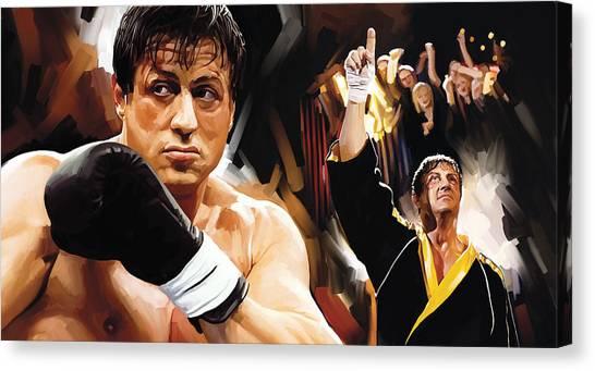 Sylvester Stallone Canvas Print - Rocky Artwork 2 by Sheraz A